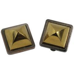 Vintage Hermes Medor Gold Plated Earrings