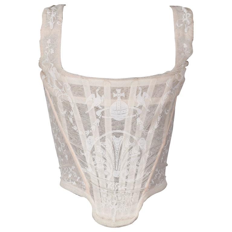 Vivienne Westwood ivory corset, 'portrait collection', circa 1990 For Sale