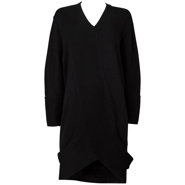 Issey Miyake ribbed knit sweater dress, circa 1980s 1