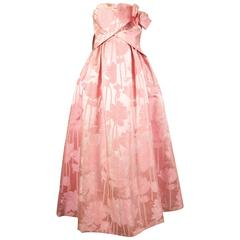 Paul Daunay Haute Couture silk brocade evening gown, circa 1952-57