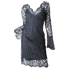 Versus Black Lace Cocktail Dress -sale