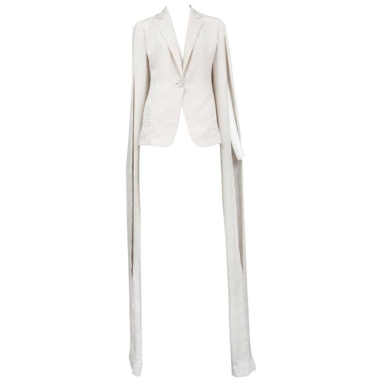 Maison Martin Margiela Ivory Long Sleeve Blazer