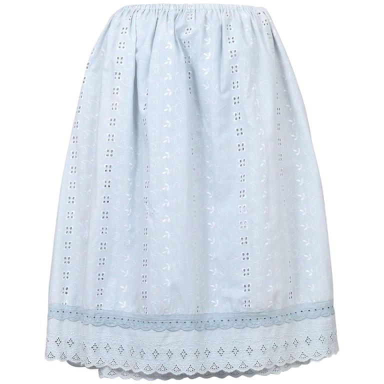 Maison Martin Margiela Artisanal Eyelet Skirt 2004  For Sale