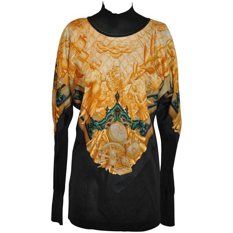 """Hermes """"Navigational"""" Silk Turtleneck Pullover"""
