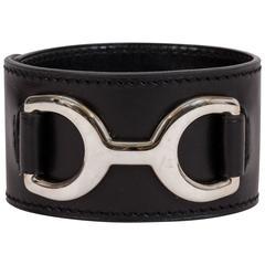 Hermès Black Mors Cuff Bracelet