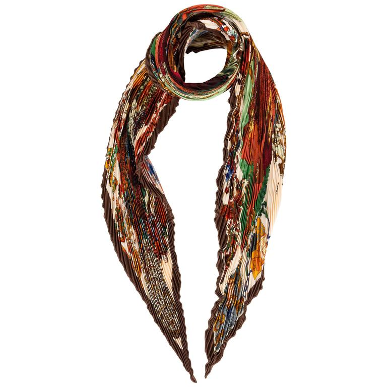 Hermès Colombus Scarf by Kermit Oliver For Sale
