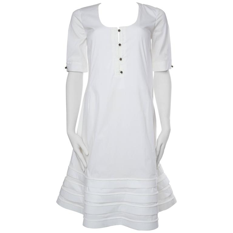 Valentino White Cotton Dress