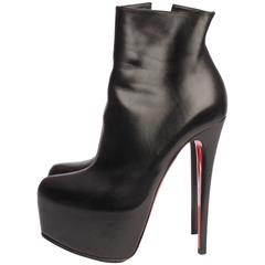 Louboutin Ankle Boots - black leather