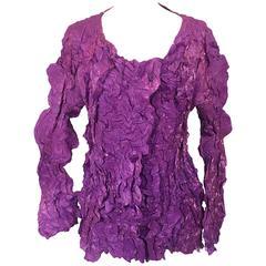 ISSEY MIYAKE 1990s Cauliflower Creased Shirt