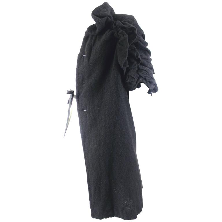 Comme des Garcons AD 2011 A/W Runway Left Half Wool Coat For Sale