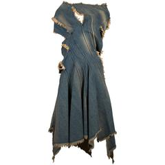 Junya Watanabe Comme des Garcons deconstructed denim dress, circa 2002