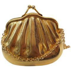 Gucci minaudiére gold tone shoulder bag
