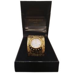 1990s Yves Saint Laurent Collection gold tone watch