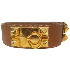 Hermes Collier de chien brown belt