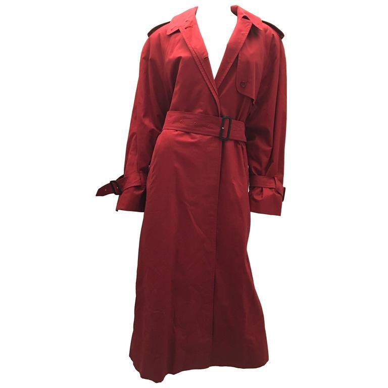 Burberrys (Burberry) Ladies Rain Coat - Burgundy