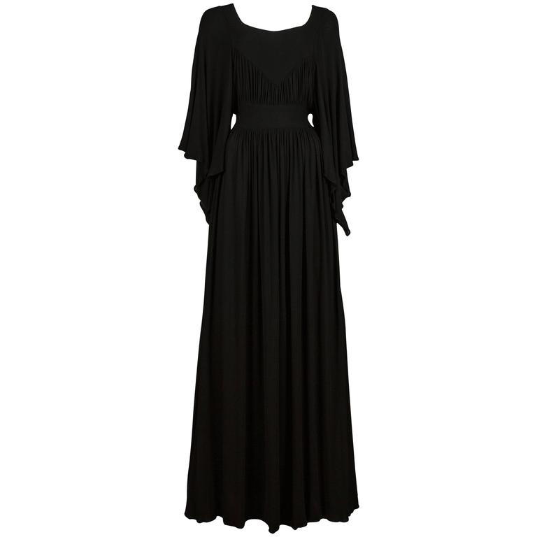 Quorum by Ossie Clark pleated jersey evening gown, circa 1965-68