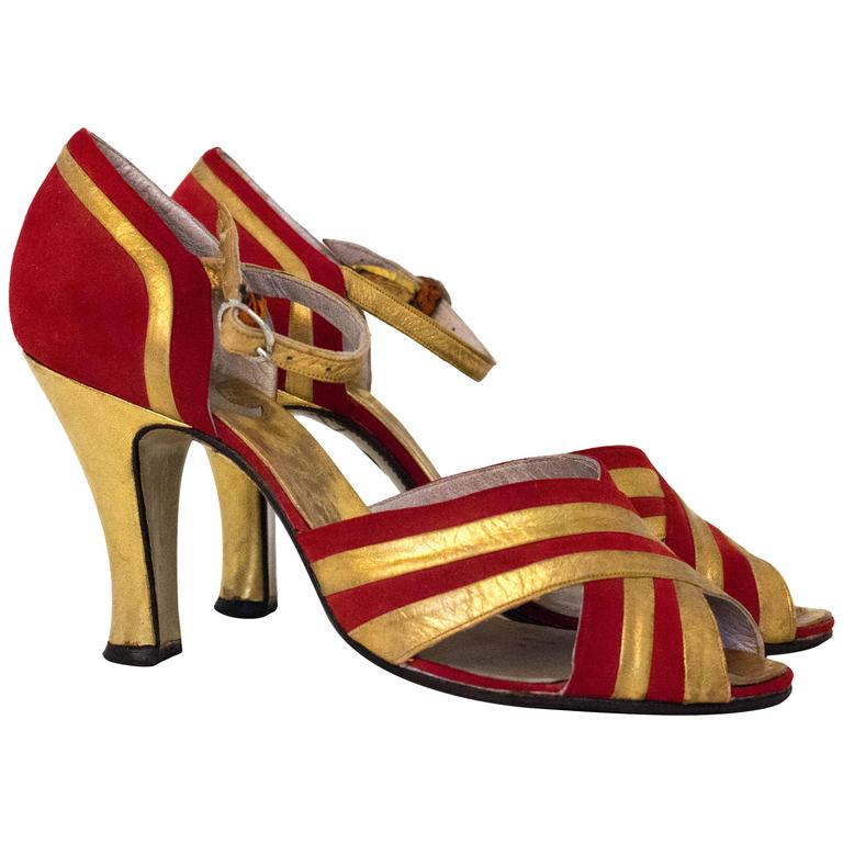 30s Red and Gold Heel