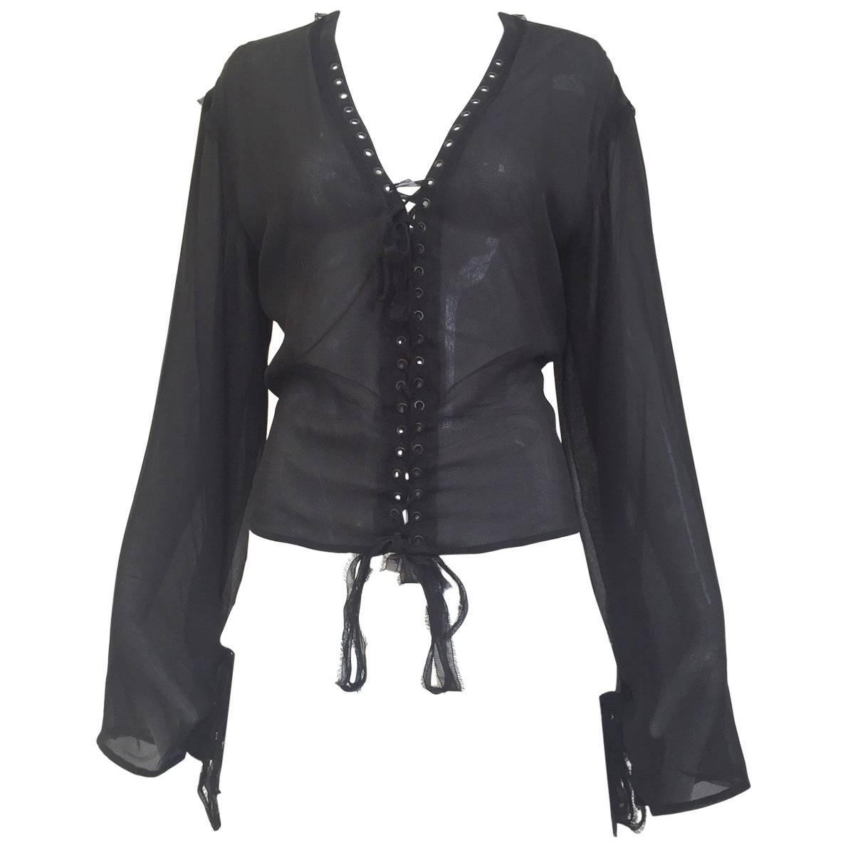 Yves Saint Laurent by Tom Ford black silk blouse