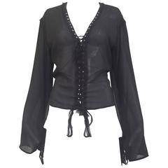 Yves Saint Laurent by Tom Ford black silk blouse
