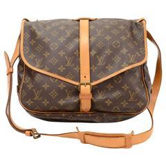 Vintage Louis Vuitton Saumur 35 Monogram Canvas Shoulder Bag