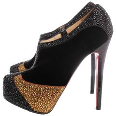 Christian Louboutin Pumps Gold rhinestones