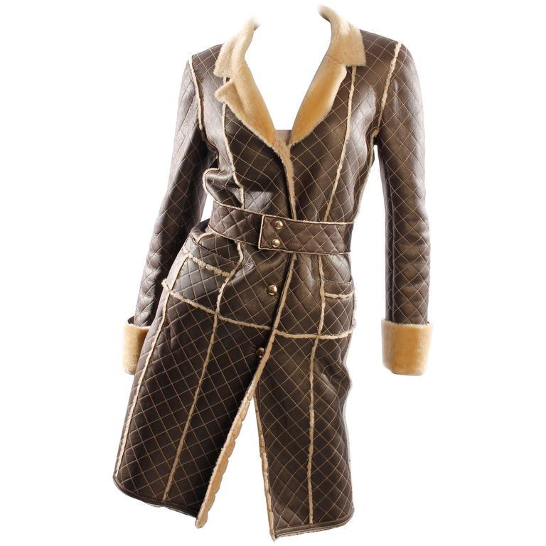 Chanel Lammy Coat - brown/gold