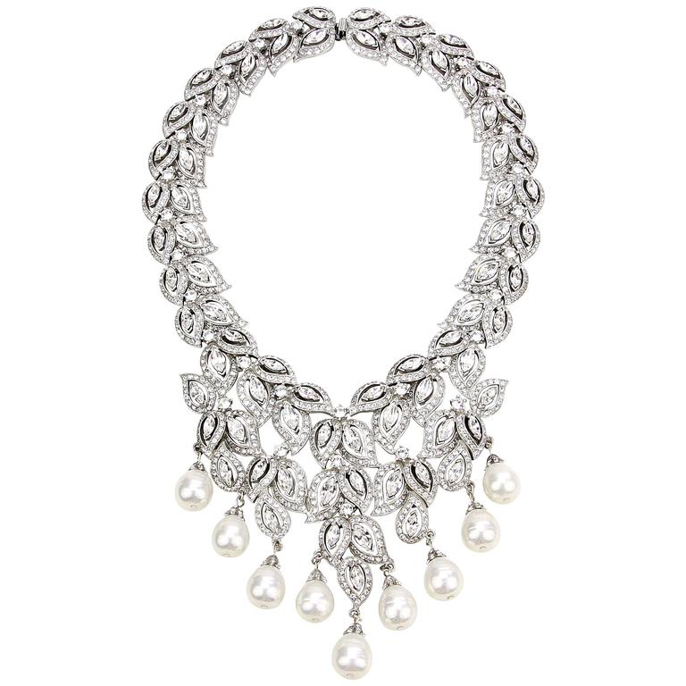 Ben mun Crystal and Pearl Necklace 1