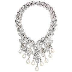 Ben mun Crystal and Pearl Necklace