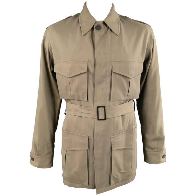 VINTAGE 1960's Men's YVES SAINTLAURENT Dark Tan Winter Jacket (available) x8QiZp