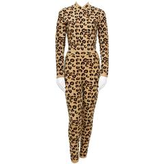 ALAIA Iconic Fall/Winter 1991-1992 Collection Leopard Set.