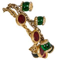 Chanel Double-Strand Gripoix Bracelet
