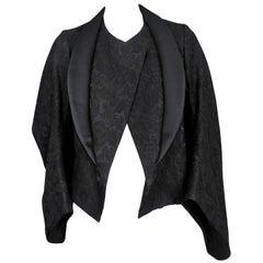 Comme des Garcons Black Brocade Kimono Jacket 2004