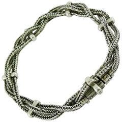Hermes Vintage Rare Sterling Silver Bracelet