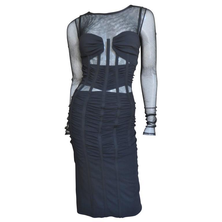 Dolce & Gabbana Corset Mesh Cutout Dress 1
