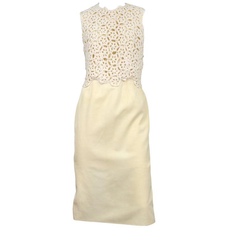 Comme des Garcons Cream Crochet Dress 2011