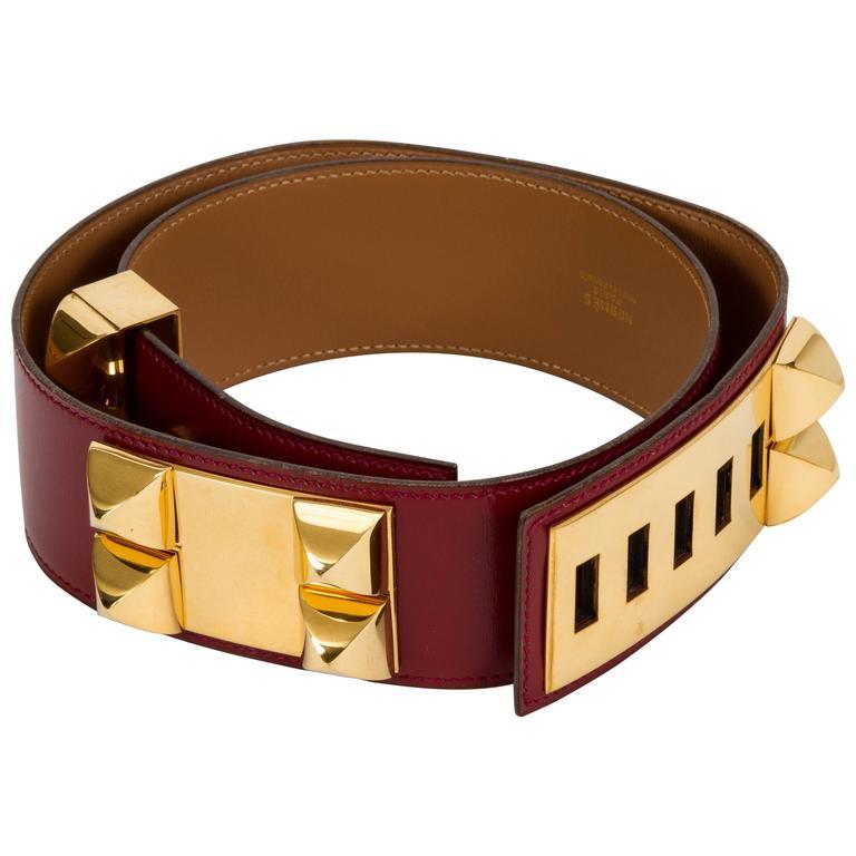Hermès Collier de Chien Rouge H 70cm Belt 1