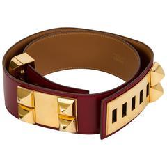 Hermès Collier de Chien Rouge H 70cm Belt