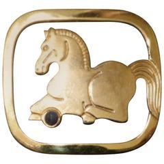 Judith Leiber Golden Resting Horse Bookmark