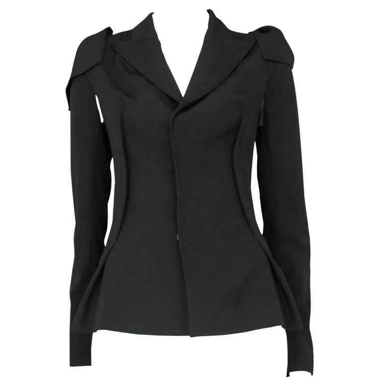 Yohji Black Detachable Sleeve Blazer