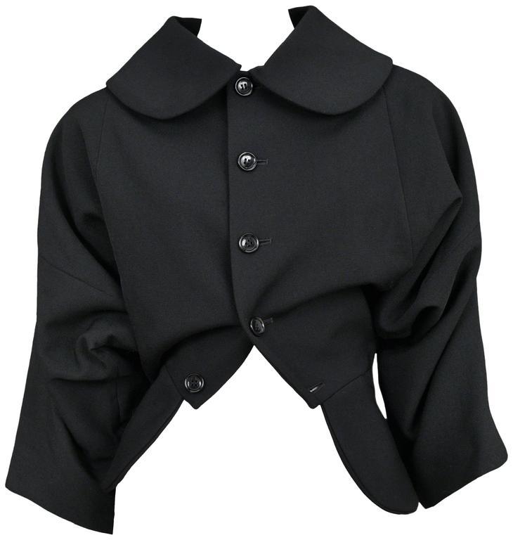 Comme des Garcons Black Upside Down Jacket