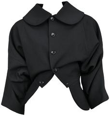 Comme des Garcons Black Upside Down Jacket