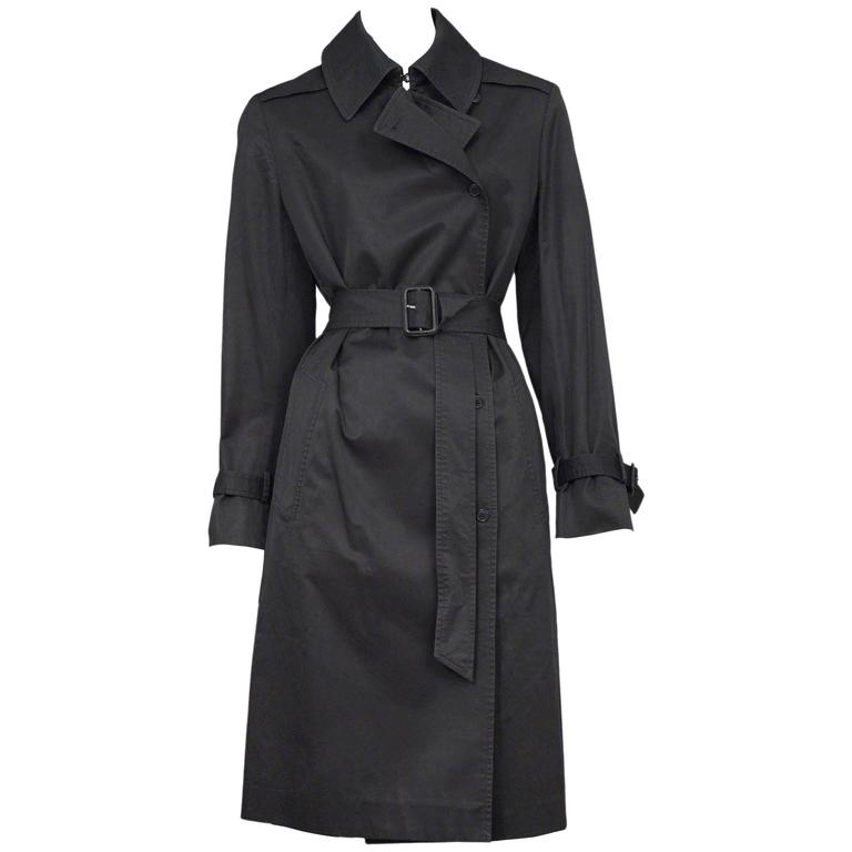 Martin Margiela Black Belted Trench Coat