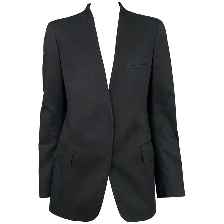 Martin Margiela Black Hidden Button Blazer 1