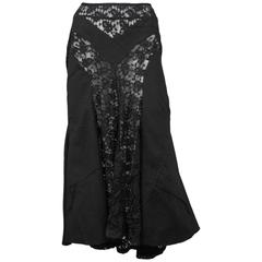 Junya Black Lace Cargo Skirt