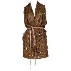 Ann Demeulemeester Brown Sequin Ensemble