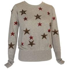 CHANEL Paris-Dallas Cashmere Mohair Knit Star Sweater