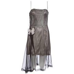 Dolce & Gabbana Runway Silk Chiffon Stromboli Collection Dress, Spring 1998
