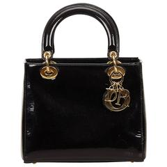 Christian Dior Black Lady Dior Handbag