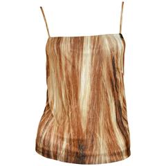 Martin Margiela Trompe Hair Print Camisole