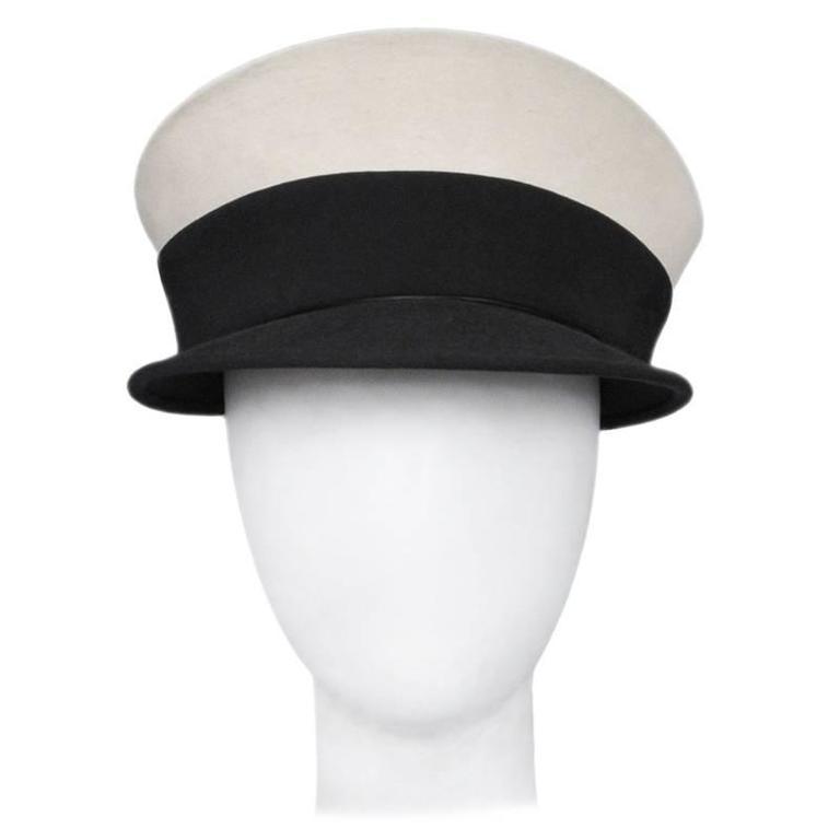 Ferre Black & White Sailor Hat